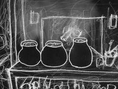 Kolm savipotti / Three Clay Pots